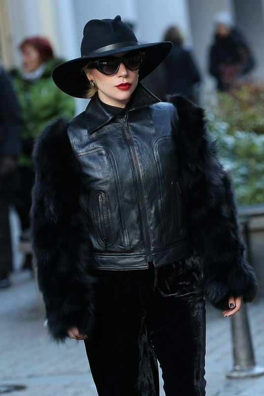LADYD GAGA Arrives in Milan for Her Live Tour 01/17/2018