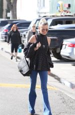 LAETICIA HALLYDAY Out and About in Hollywood 01/24/2018