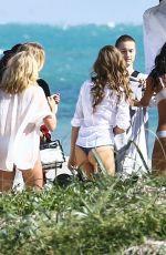 LAIS RIBEIRO, JASMINE TOOKES and JOSEPHINE SKRIVER on the Set of a VS Photoshoot in Miami 01/18/2018