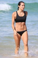 LAURA BYRNE in Bikini on the Bondi Beach in Sydney 12/12/2017