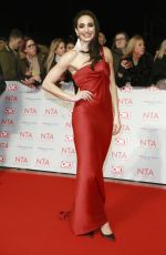 LAURA WRIGHT at National Television Awards in London 01/23/2018