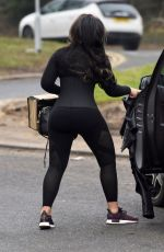 LAUREN GOODGER in Tights Out and About in Essex 01/17/2018