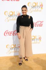 LAURIE HERNANDEZ at 5th Annual Gold Meets Golden in Los Angeles 01/06/2018