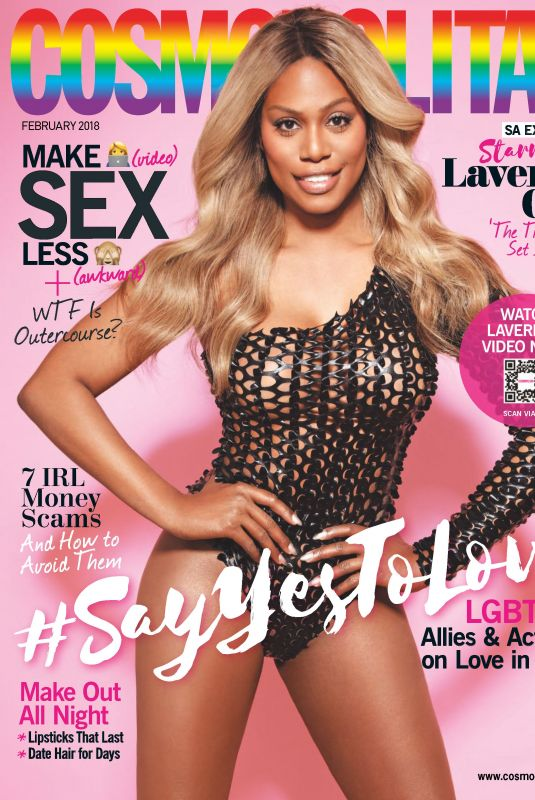 LAVERNE COX in Cosmopolitan Magazine, South Africa February 2018 Issue