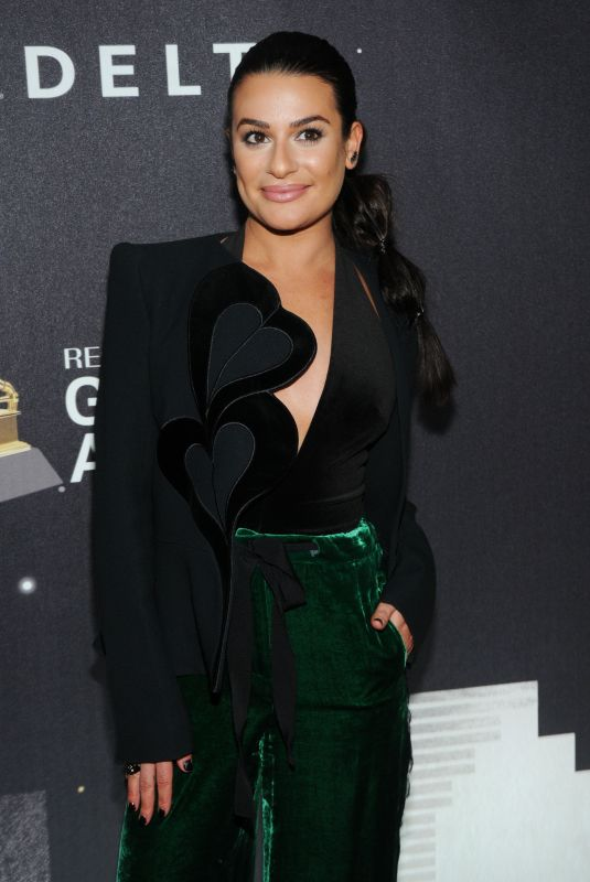 LEA MICHELE at Delta Airlines Pre-grammy Party in New York 01/25/2018