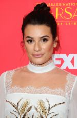 LEA MICHELE at The Assassination of Gianni Versace: American Crime Story Premiere in Hollywood 01/08/2018