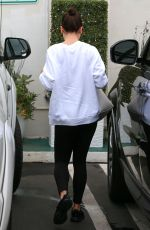 LEA MICHELE Leaves a Spa in Santa Monica 01/03/2018
