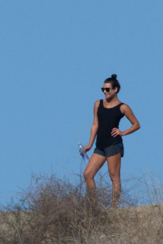 LEA MICHELE Out Hiking in Los Angeles 01/07/2018