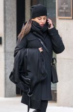 LEA MICHELE Taking Her Coat to Dry Cleaners in New York 01/27/2018