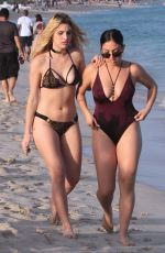 LELE PONS and INANNA in Bikini on the Beach in Miami 01/01/2018
