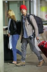 LILI REINHART and Cole Sprouse Arrives in Vancouver 01/07/2018