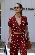 LILY ALDRIDGE Out Sshopping in West Hollywood 01/24/2018