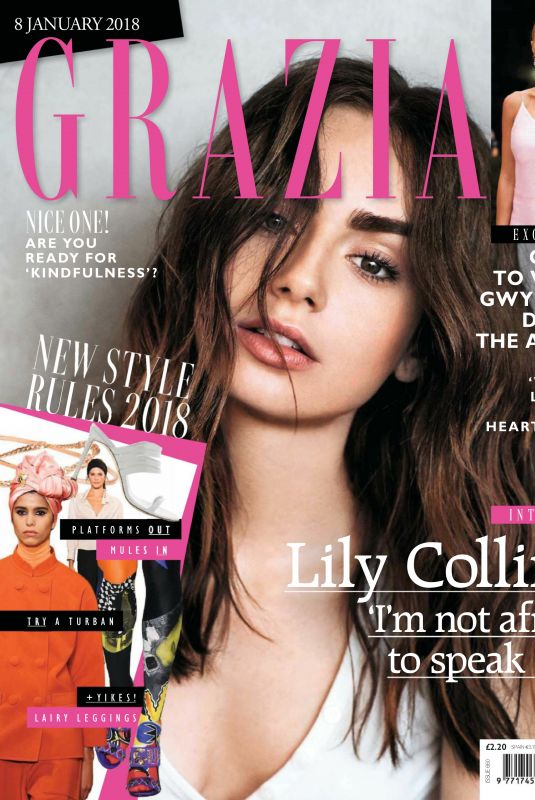 LILY COLLINS in Grazia Magazine, January 2018 Issue