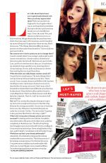 LILY COLLINS in Instyle Magazine, February 2018