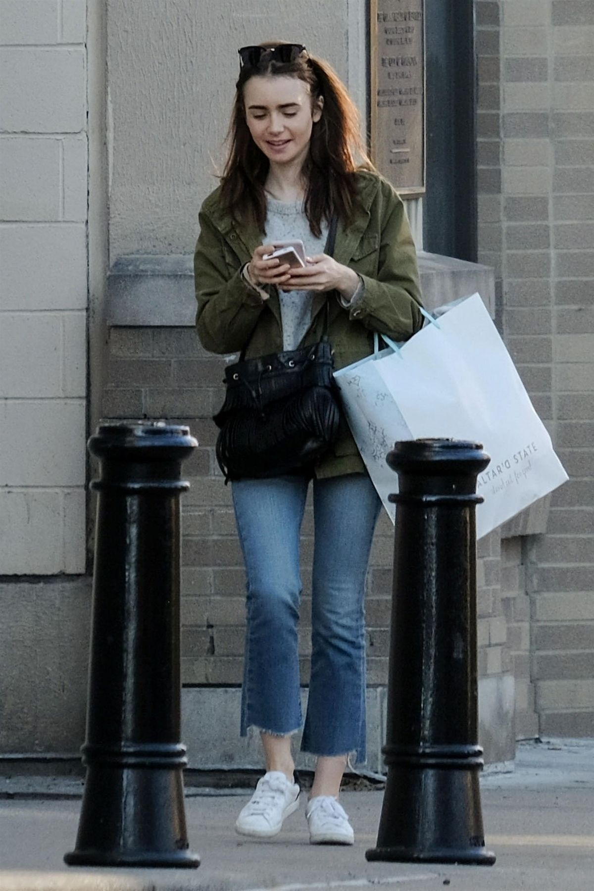 LILY COLLINS Out and A...