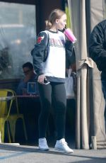 LILY-ROSE DEPP Out for Lunch at Pinches Tacos in West Hollywood 01/24/2018