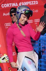 LINDSEY VONN at Alpine Skiing FIS World Cup at Downhill Cortina D