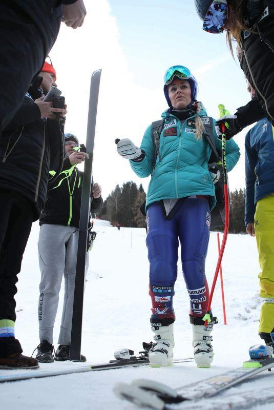 LINDSEY VONN at Alpine Skiing FIS World Cup, Downhill training in Bad Kleinkrchheim 01/12/2018
