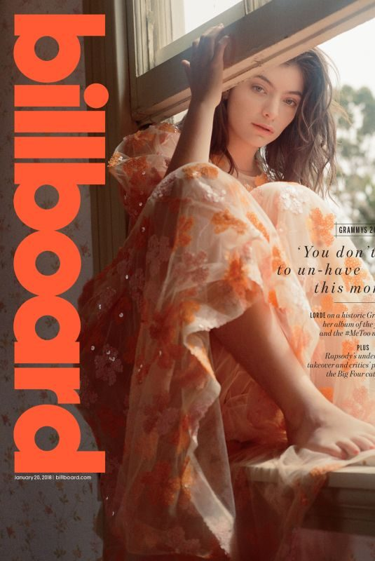 LORDE for Billboard Magazine, January 2018