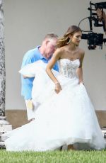 LORENA RAE on the Set of a Wedding Themed Photoshoot in Miami 01/18/2018
