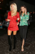 LOTTIE MOSS and EMILY BLACKWELL Leave OVO by Cirque du Soleil Press Night in London 01/10/2018