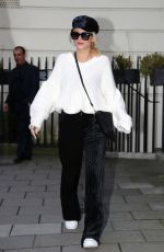 LOTTIE MOSS Leaves a Private Members Club in London 01/16/2018