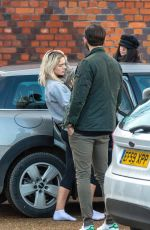 LOUISA JOHNSON Out with Her Dog in Essex 01/21/2018