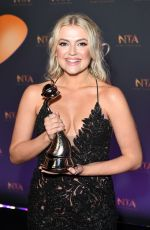LUCY FALLON at National Television Awards in London 01/23/2018