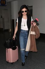 LUCY HALE at Los Angeles International Airport 01/17/2018