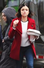 LUCY HALE on the Set of Life Sentence in Vancouver 01/09/2018