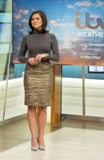LUCY VERASAMY at Good Morning Britain Show in London 01/02/2018