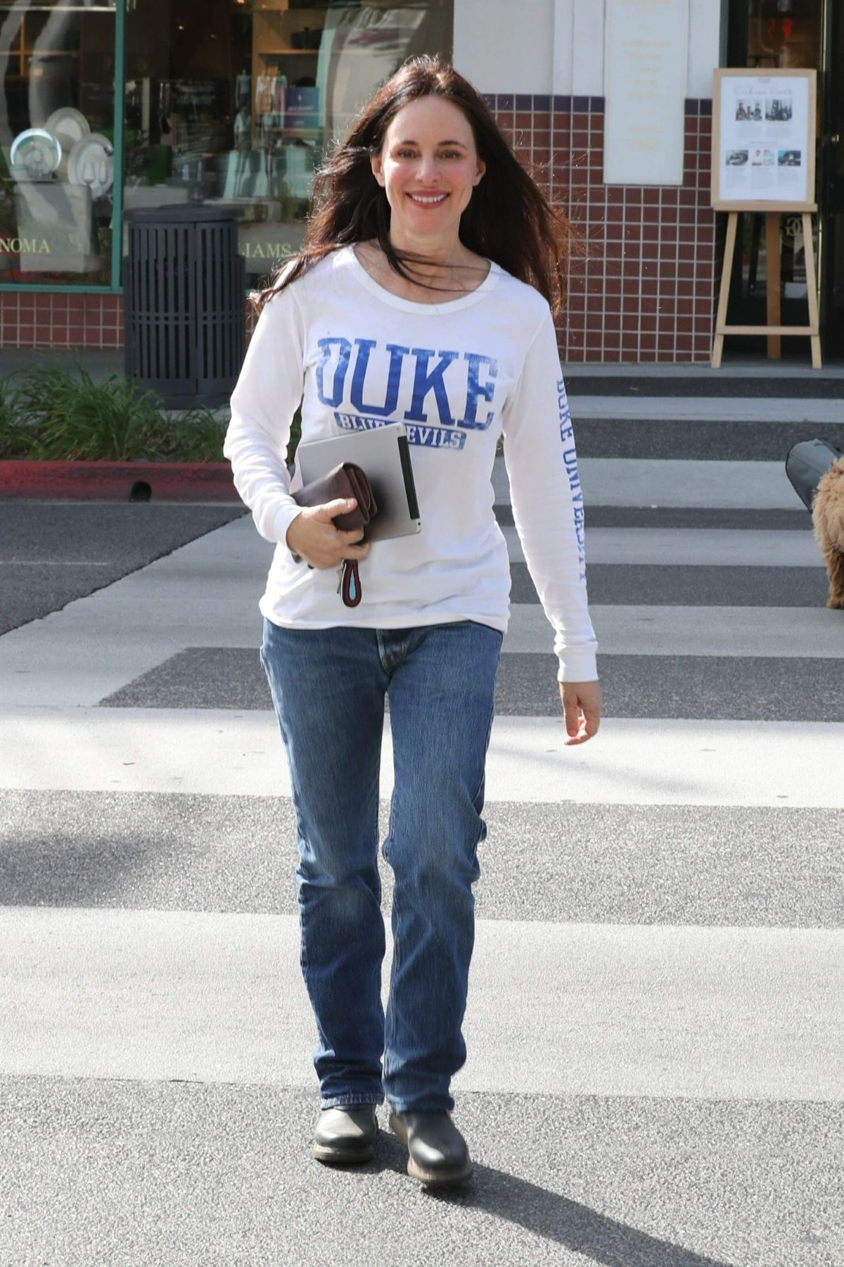 MADELEINE STOWE Out for Coffee in Beverly Hills 01/17/2018