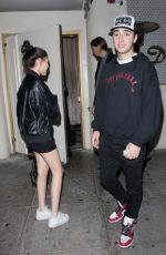 MADISON BEER and Zack Bia at Delilah in West Hollywood 01/27/2018
