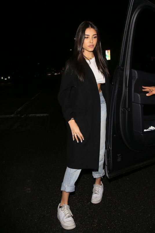 MADISON BEER Out for Dinner at Petite in Los Angeles 01/09/2018