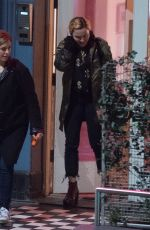 MADONNA Leaves a Recording Studio in London 01/17/2018