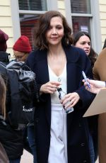MAGGIE GYLLENHAAL Out and About in Park City 01/19/2018