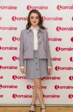 MAISIE WILLIAMS at Lorraine TV Show in London 01/17/2018