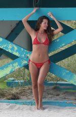 MALENA COSTA in Bikini on the Beach in Miami 12/21/2017
