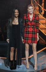MALIKA HAQQ and ASHLEY JAMES at Celebrity Big Brother at Elstree Studios in Hertfordshire 01/30/2018