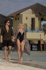 MALIN AKERMAN in Swimsuit and Jack Donnelly at a Beach in Mexico 01/30/2018