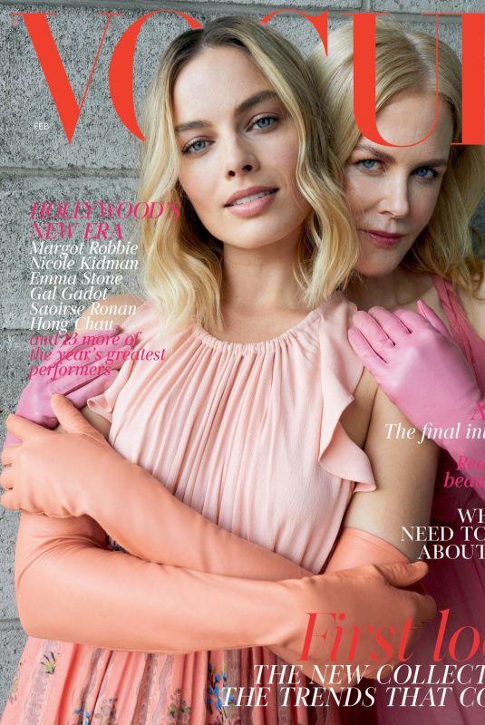 MARGOT ROBBIE and NICLE KODMAN in Vogue Magazine, UK February 2018 Issue