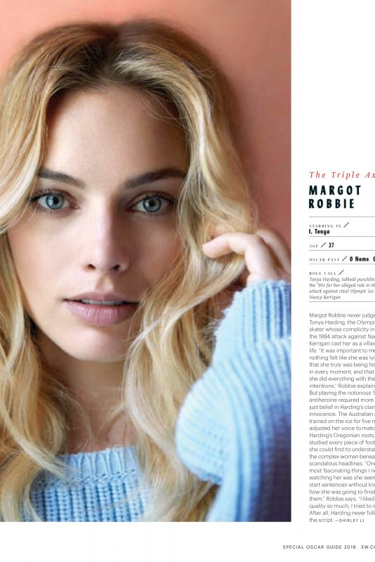 MARGOT ROBBIE in Entertainment Weekly , February 2018
