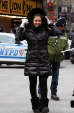 MARIA MENOUNOS Reports Celebrations at Times Square New Year