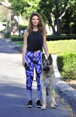 MARIA MENOUNOS Walks Her Dog Out in Los Angeles 01/15/2018