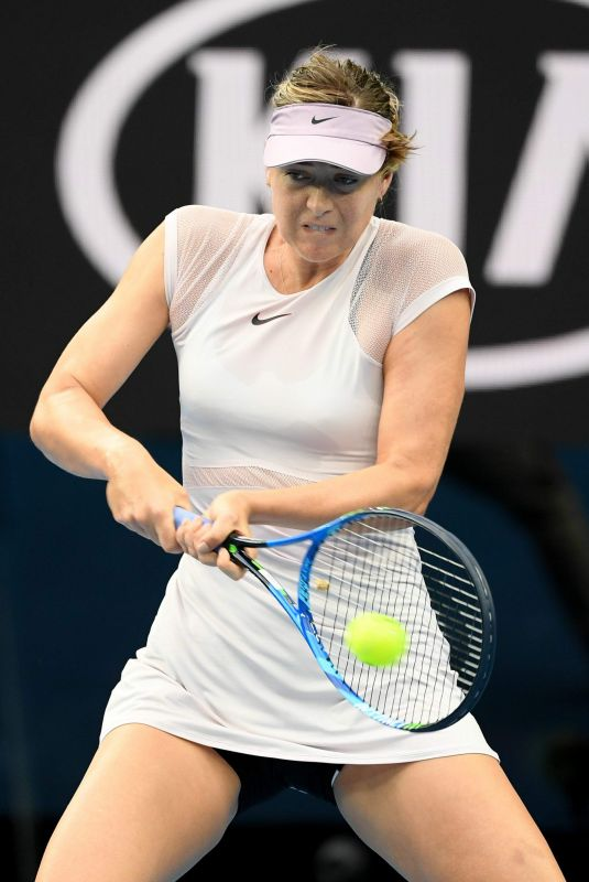 MARIA SHARAPOVA at Australian Open Tennis Tournament in Melbourne 01/20/2018