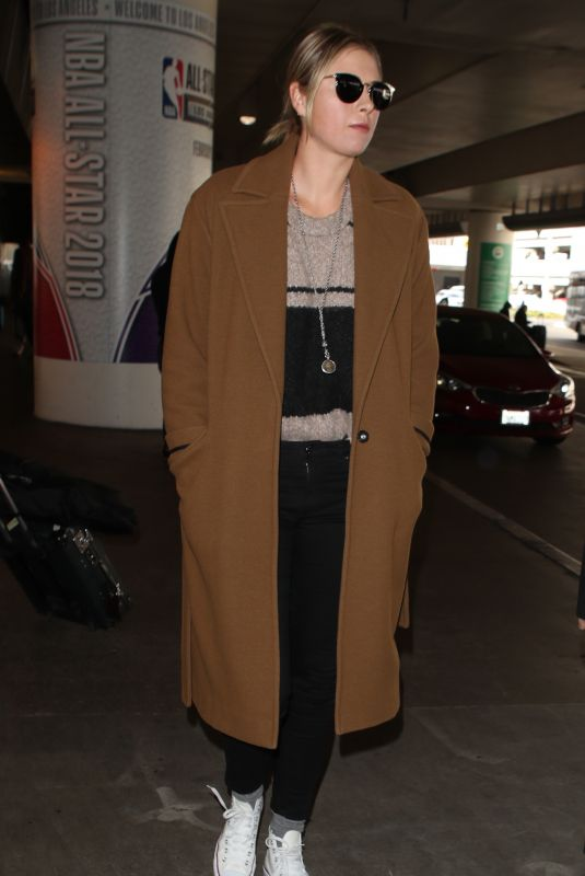 MARIA SHARAPOVA at LAX Airport in Los Angeles 01/25/2018