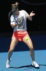 MARIA SHARAPOVA at Practice Session at Australian Open Tennis Tournament in Melbourne 01/14/2018