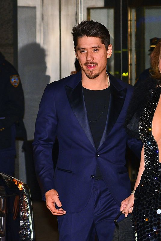 MARIAH CAREY and Bruan Tanaka Leaves Clive Davis Pre-Grammy Party in New York 01/28/2018