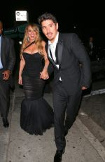 MARIAH CAREY Arrives at Instyle and Warner Bros Golden Globes After-party in Los Angeles 01/07/2018