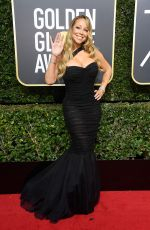 MARIAH CAREY at 75th Annual Golden Globe Awards in Beverly Hills 01/07/2018
